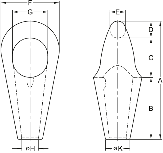 anchor pendant sockets technical
